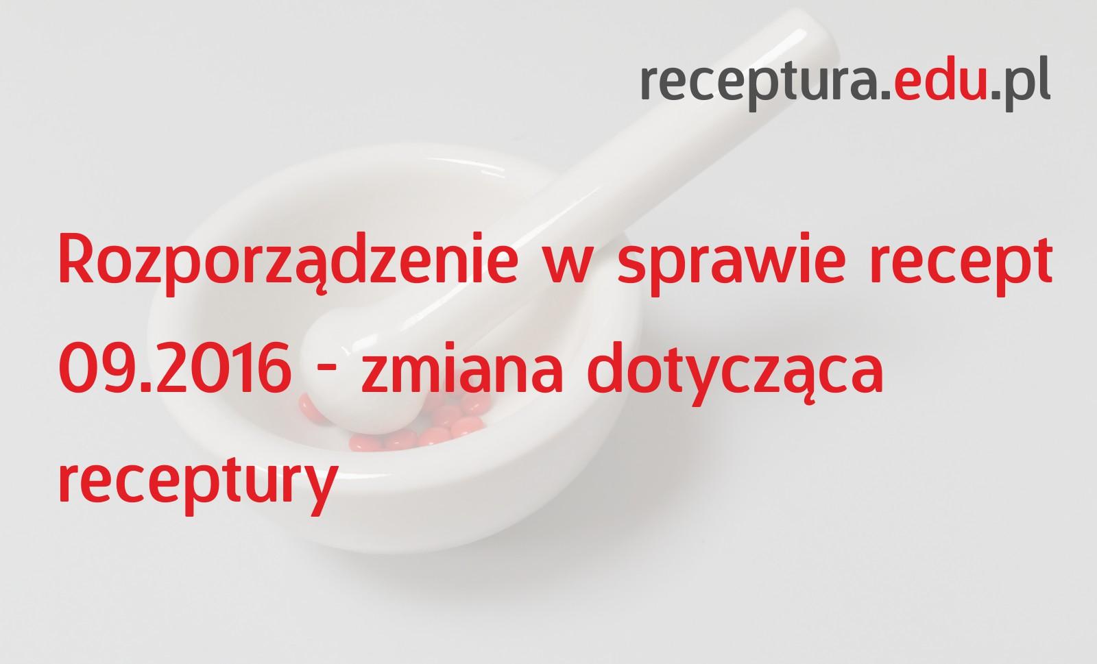 zmiana receptura apteczna